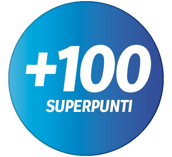 +100 superpunti sul prossimo acquisto effettuato con la Supercard a partire da fr. 10.-