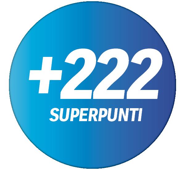 +222 Superpunti per acquisti a partire da CHF 20.– nel vostro punto vendita Coop Pronto.