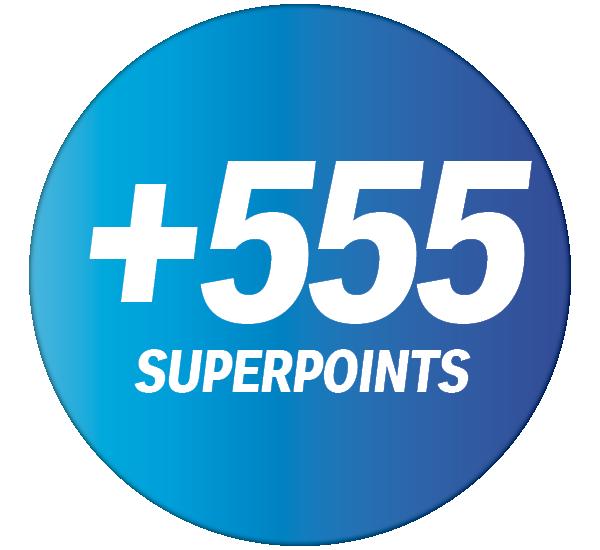 +555 Superpoints pour un montant d'achats de CHF 45.– minimum dans votre shop Coop Pronto.