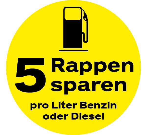 pro Liter Benzin/Diesel.