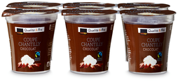 Coop Coupe Chantilly Chocolat, Fairtrade Max Havelaar, 6 x 125 g (100 g = 0.28)
